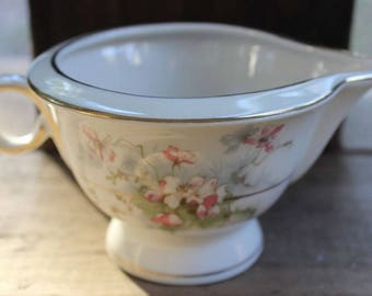 Vintage APPLE BLOSSOM New York HAVILAND Creamer Pitcher Pink Flowers