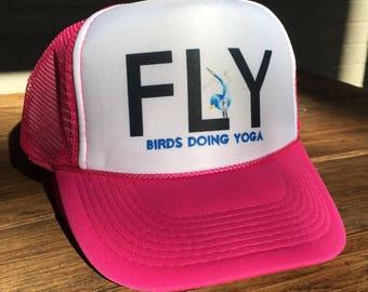 Pink FLY Trucker Hat