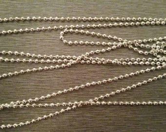 1 m 2mm silver ball chain