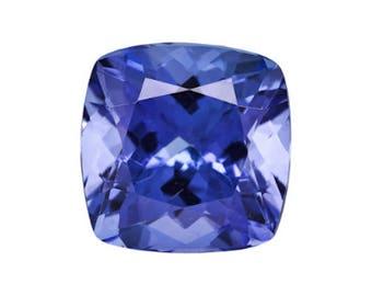 Natural Tanzanite Gemstone AA Violet Blue Cushion Loose Stones (4x4mm - 7x7mm)