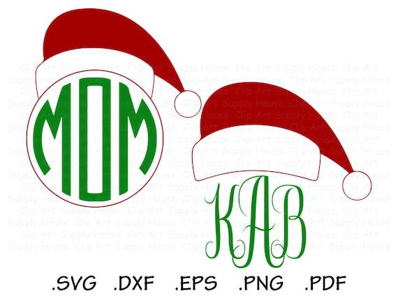 santa hat clipart santa hat monogram christmas clipart