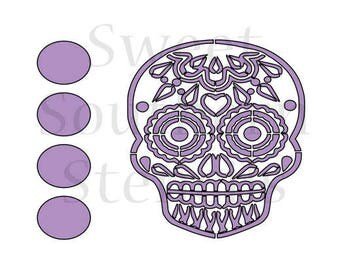 Sugar Skull #2 PYO Cookie Stencil