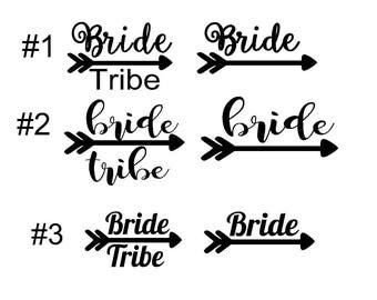 Gold Glitter Bridal Party Decal DIY Bridesmaid Shirt Iron On - Custom vinyl decals lettering for shirts