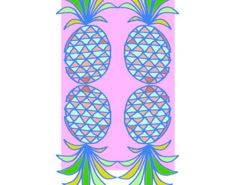 pink mirrored pineapples