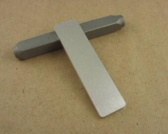 "1/2"" x 2"" Aluminum Stamping Tags, 14 Ga Thick, 1100 Aluminum, 10 Pieces"