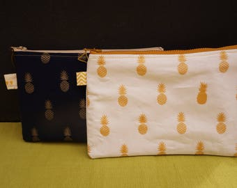 White and gold pineapple cover