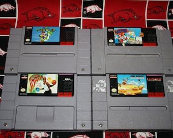 Super Nintendo Game - Michael Jordan - Death Valley Rally - Mario Paint - Super Mario World - SNES