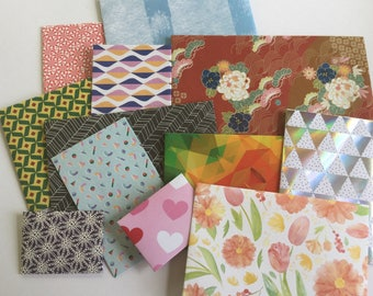 Mixed envelopes, assorted envelopes, snail mail, coloured envelopes, patterned, stationery
