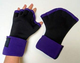 Original mittens webbed Sweatshirt black and purple