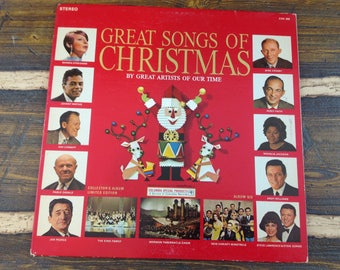 Great Songs of Christmas By Great Artists of Our Time Vintage Vinyl Record LP 1966