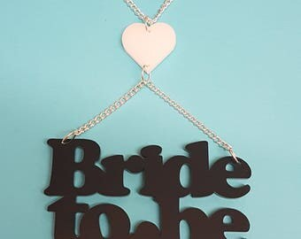 Bride to Be Hen Party Necklace - Acrylic
