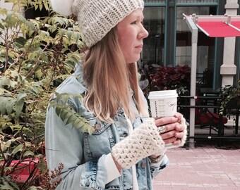 ASPEN Slouch Hat (with faux fur pompom)