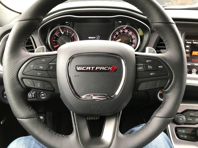 scat pack challengercharger steering wheel badge