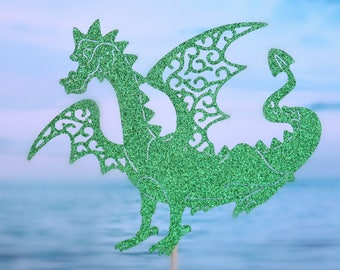 Dragon Cake Topper - Dragon Party Decorations - Dragon Party Decor - Dragon Party Centerpiece - Dragon Birthday Party Cake Topper - Fantasy
