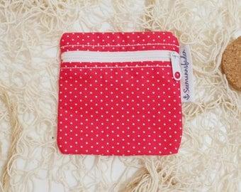 "Mini-bag ""dots"", red"
