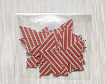 Striped butterflies, red abd white, 2 inches