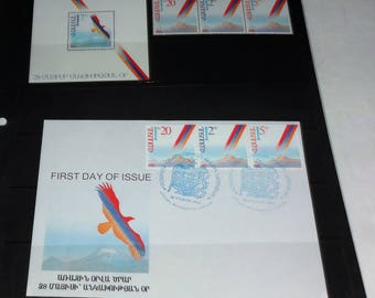 The Rebirth of Armenia-1992 May 28 Independence Day Issue-- First Day Cover, Stamp Sheet Nice Colors, See Listing