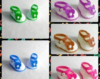 Crchet Sandal, Infant Crochet Booties,  Crochet Baby Flip Flops, Boots for babies, Baby shower gift