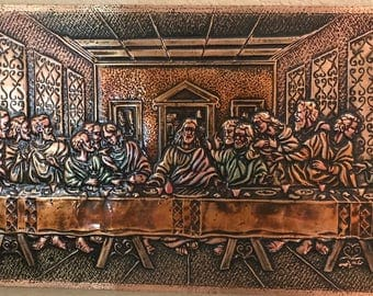 Wall Art - The Last Supper {Copper Large}
