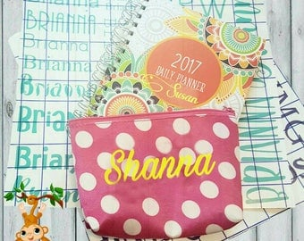 DIY Name Decals Personalized Name Stickers School Supplies Bag Tag Lunch Box Back Pack Pencil Kindergarten Middle High School