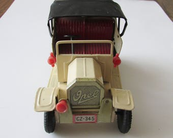 Vintage Friction Jalopy Toy Tin Metal Car Made in Japan