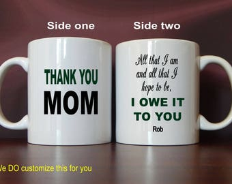 Mom Thank You Gift, Mom Mug, Mothers's Day Gift, Mom Gift from Son, Mom Gift, Personalized Mom Christmas Gift, Mom Birthday Gift MMA008