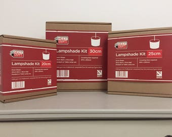 Lampshade Kit - 20cm / 25cm / 30cm drum lampshade making kits.  Great Xmas gift /present idea.