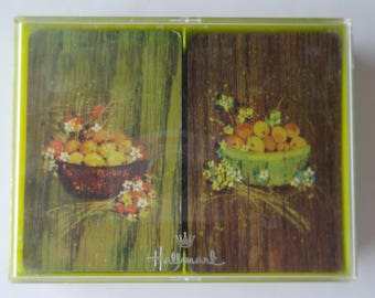 """Hallmark Double Deck Playing Cards """"Citrus"""" Oranges and Lemons"""