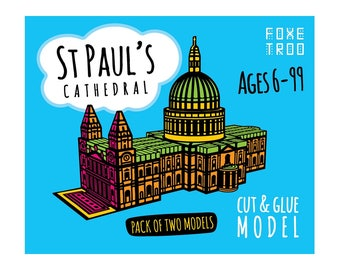 St Paul's Cathedral of London: Cut-Out & Glue Paper Model Kit || Stocking Filler