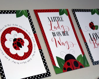 little lady baby shower posters ladybug baby shower poster set ladybug baby shower printables