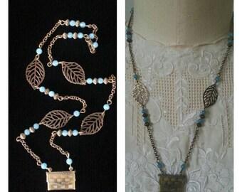 envelope necklace in brass
