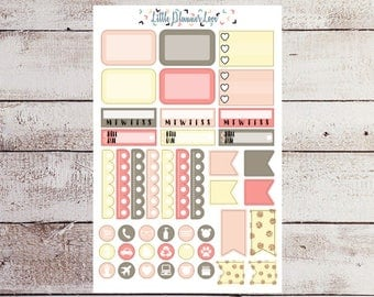 Reading Room Boxes and Icons Planner Stickers