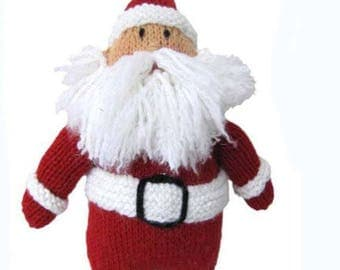 Vintage Knit Standing Santa Claus Doll christmas decor instant download knitting pattern
