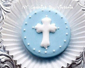 Baptism, Christening, First Communion -  Fresh Chocolate Covered Oreos  ; Christening Favors, Baptism Cookies for Candy Table