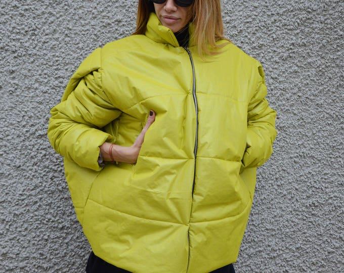 Winter Extra Warm Jacket, Extravagant Windproof Zipper Coat, Asymmetric Loose Coat, Maxi Coat by SSDfashion