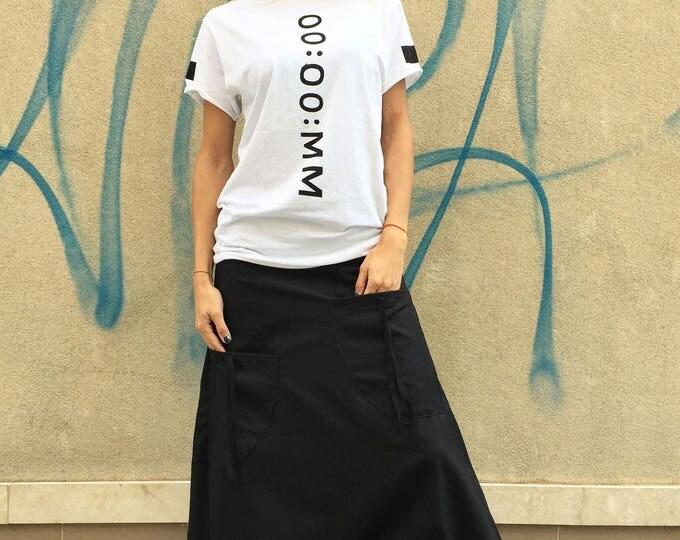 Extravagant Linen Harem Pants, Maxi Plus Size Pants, Wide Leg Hippie Pants, Front Pockets Pants by SSDfashion