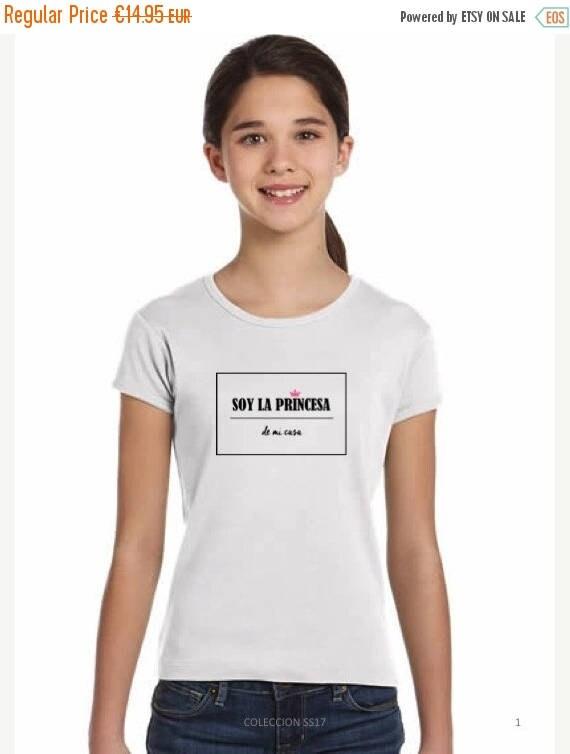 REBAJADO Girl white t-shirt SOY LA Princesa de mi casa