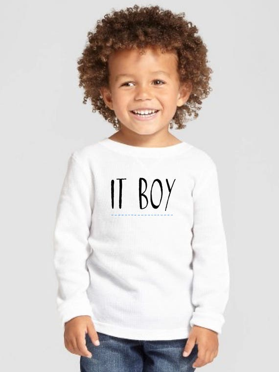Round neck boy t-shirt IT BOY
