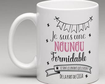 The mug personalized for a great nanny...