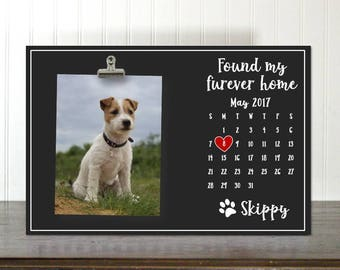 Dog Adoption, Rescue Dog, Pet Adoption, Shelter Dog, Free Personalization Found My Foever Home with calendar Photo Clip Frame IBFSC  dcclip1