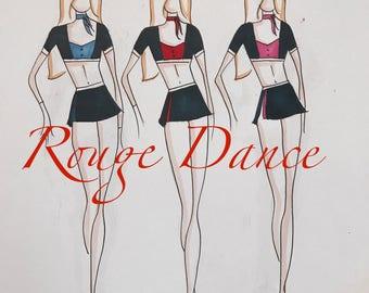 team dance costume, custom dance deposit,group dance costume, jazz dance costume, contemporary dance costume, custom women's dance costume,
