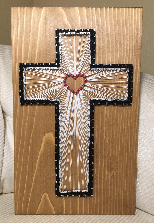 Custom Cross String Art Religious Christian Decor Home