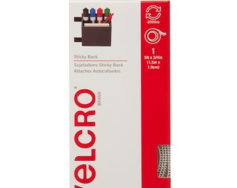 VELCRO® Brand STICKY BACK™ Tape, 5ft.  - White - 5 ft