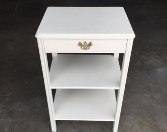 Reclaimed Vintage One Drawer Telephone Table In Heirloom White