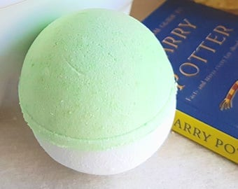 Hogwarts Inspired Bath Bomb - House of the Serpent - Harry Potter Gift - All Natural Bath Fizzy - Handmade Aromatherapy Bath Bomb -Valentine