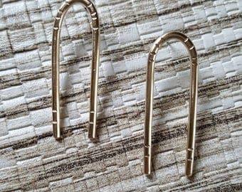 Brass earrings / tribal earrings / stud earrings