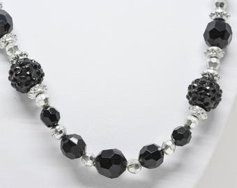Lovely black tone necklace