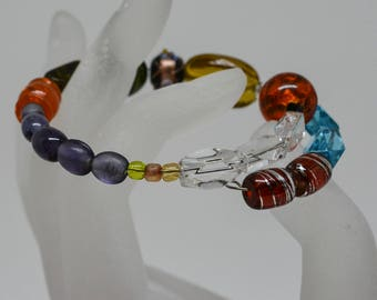 Charming multi color beaded bracelet