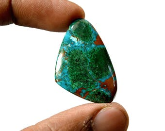 Chrysocolla 30.5 Cts AAA Quality Natural Gemstone Attractive Designer Free Form Shape Cabochon 33x21x5 MM R14375