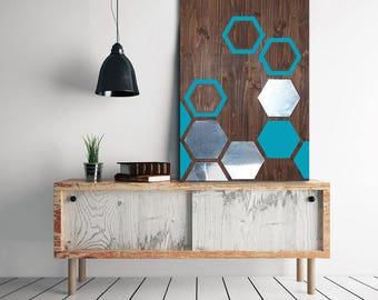 Metal Art Wall Decor, Wall Art Geometric, Wood Wall Art Decor, Modern Metal